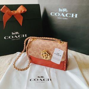 Coach Bags - Coach Parker 18 In Signature Canvas With Rivets